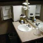 Sink area by door