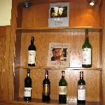 Local wines at the Alte Poste
