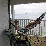 Lounging outside our room