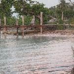 the dock at Cerros beach resort