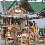 A beach bar in front of the resort