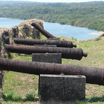 Cannons protect the River Chagres