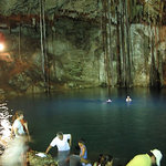Dzitnupt Cenote, near Valladolid, Mexico.