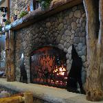 A big fire place