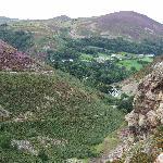 View descending Conway mountain.