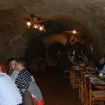 The underground restaurant, formerly used for storing lagers.