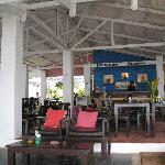 The restaurant and reception area at Lima Coco