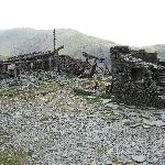 The ruins of a slate and coppermines.Old Man Coniston.