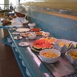 Small selection of the breakfast buffet
