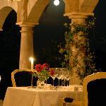 Terrace restaurant table