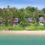 Blick auf das Beachvillas resort mit dem dazugehörigen Strand
