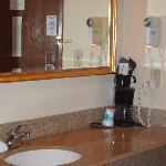 the sink area