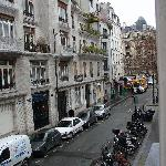 View down rue Vavin from Room 2