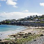 Coverack Panorama - Bay Hotel will be to the foreground right  out of shot