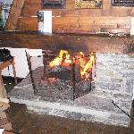 la cheminée du chalet Emanuelle