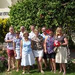 Our group in hotel garden