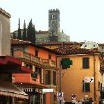 The Old town of Barga from our bedroom
