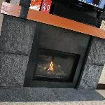 Cosy warm fire at the touch of a button!