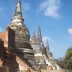 Three pagodas of Wat Phra Si Sanphet which house the remains of King Borommatrailokanat, King Bo