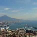 A view of the bay and Vesuvius, from Vomero.
