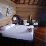 a water villa room