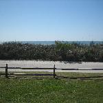View from our RV door.  Ocean behind dune.