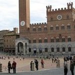 Panorama Piazza dell Campowith Torre del Mangia and Palazzo Pubblico