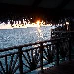 Sunset from Water Bungalow