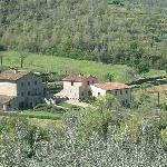 View of Casa P from nearby hill
