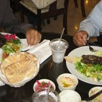 My husband had the gyro plate and dad had the mixed plate