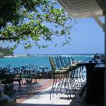 View of the turquoise ocean from the main lobby bar! Amazing!