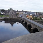the bridge into Limerick from the tower