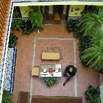view of courtyard from 2nd floor