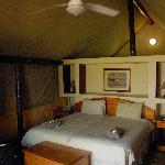 Interior of tented camp