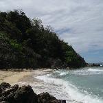 Hidden Beach on the opposite side of the island.