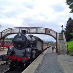 La llegada del tren de vapor