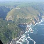 A view along the coast from the Helicopter.