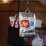 Mice got into food bags, had to hang them from ceiling.