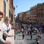 Blick vom Balkon zur Piazza di Spagna