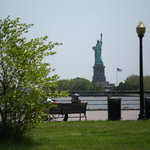 The view of Lady Liberty from Liberty State Park