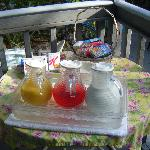Petit déjeuner au bord de la piscine - Breakfast close to the pool