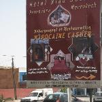 Billboard advertising the hotel nearby