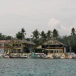 View of the beach club and Big Lalaguna