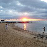 il tramonto sul mare