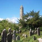 Glendalough's round tower