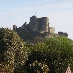 Criccieth castle from Min y Gaer