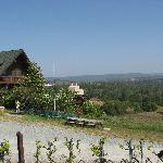 The Lodge overlooking the vineyards and the valley