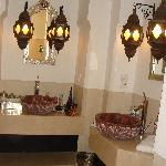 Basins in shower room