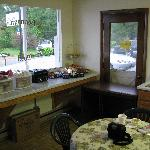 Small but smartly presented breakfast area with plenty of variety