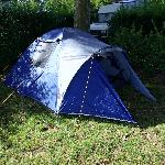 Our little tent-just big enough for two